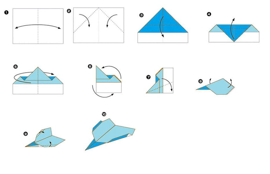 Как сделать долго летающий самолётик из бумаги 864