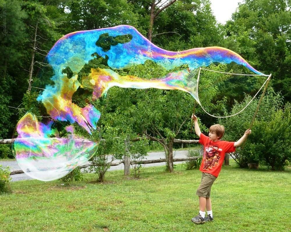 Как сделать гигантские пузыри