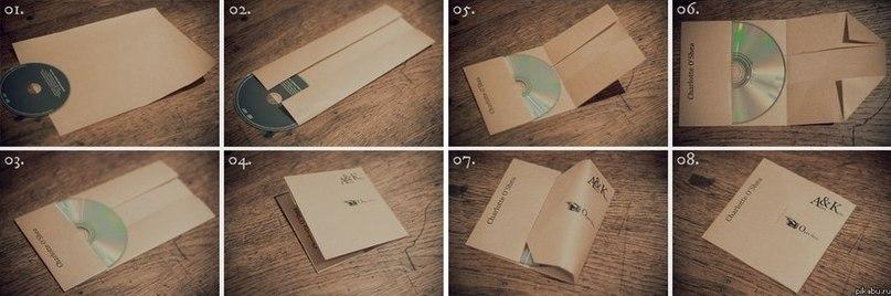 Как сделать из бумаги упаковку для дисков