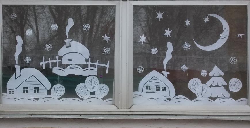 Украсить окна на новый год своими руками