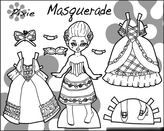Раскраска одеть куклу 183