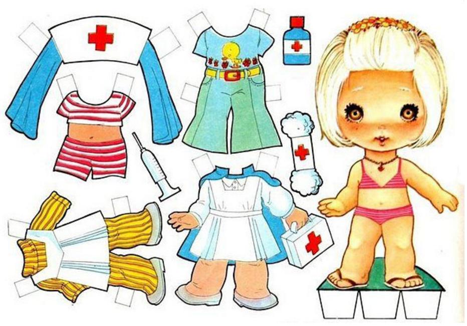Как вырезать кукол и одежду из бумаги