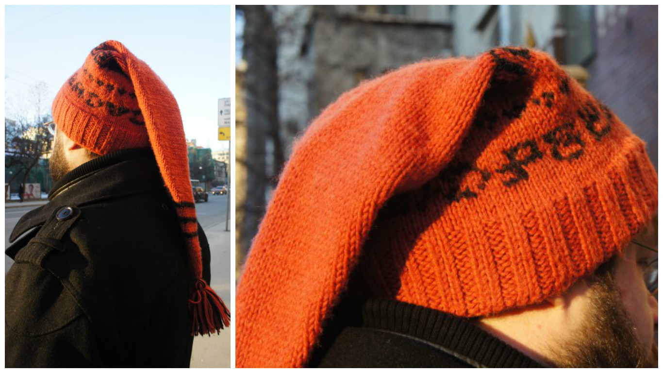 схема вязания мужской шапки 58 размера спицами