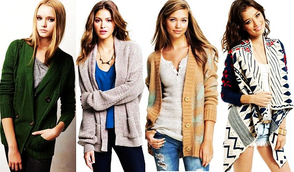 The most fashionable models of women's cardigans 2018