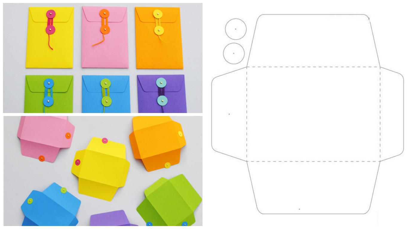 Как сделать из бумаги квадратный конверт