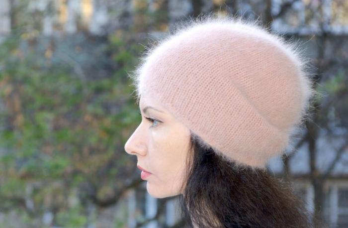 Вязание шапок из ангоры 139