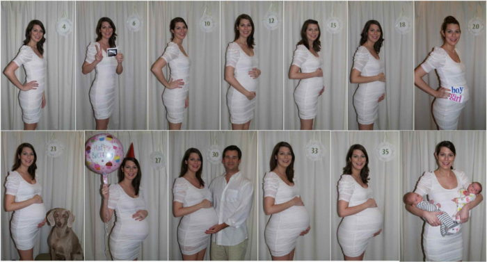 Живот при беременности по месяцам