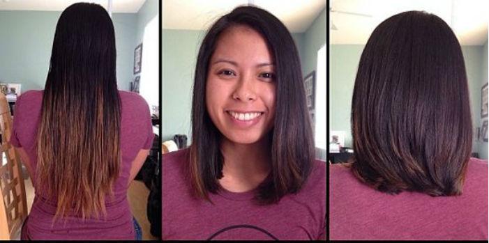 каре до плеч до и после фото