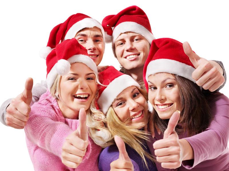 Студенты праздник на новый год