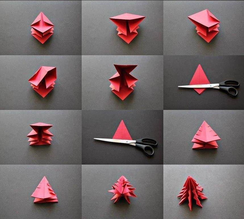 Новогодние оригами своими руками из бумаги