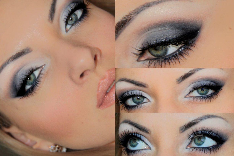 Идеи макияжа для серо-голубых глаз фото пошагово