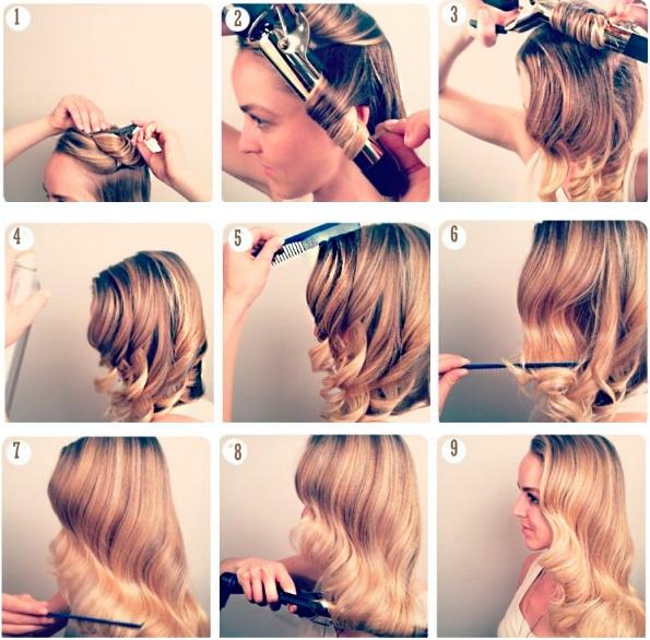 Как завить волосы плойкой способы и фото - Google Chrome