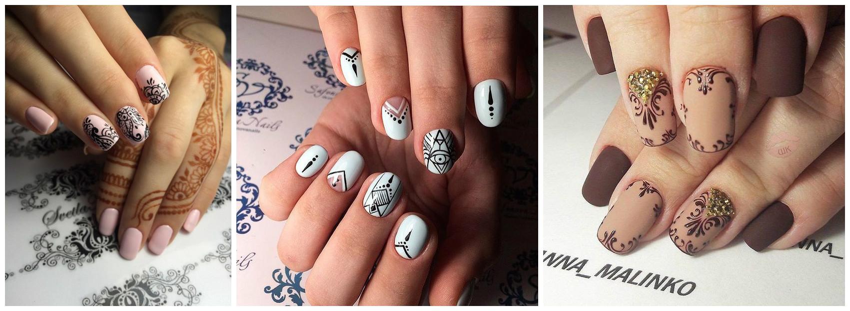 Восточные орнаменты фото на ногтях