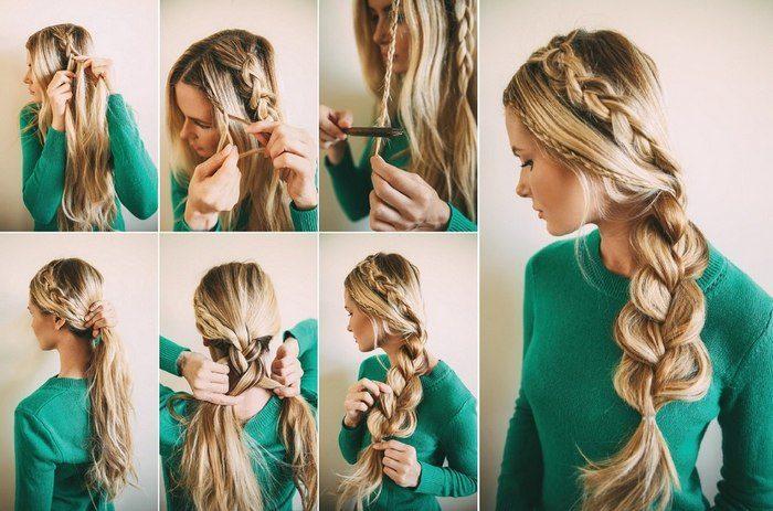 Красивые лёгкие причёски на длинные волосы поэтапно своими руками