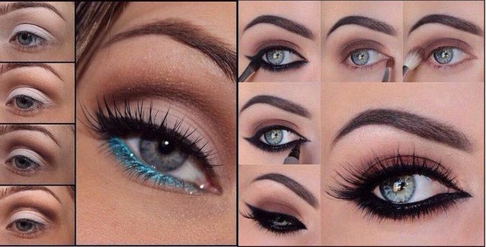 Повседневный макияж для темно серых глаз