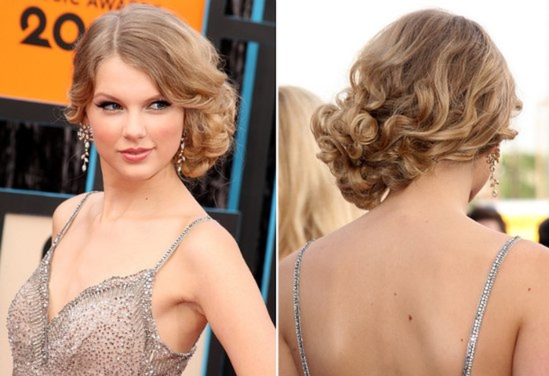 Прическа локоны на бок на короткие волосы