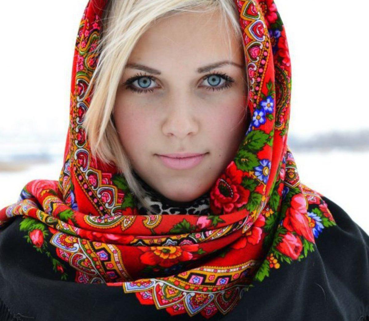 Русские женские платки