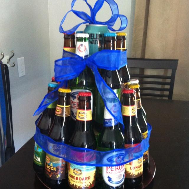Как сделать подарок из банок с пивом