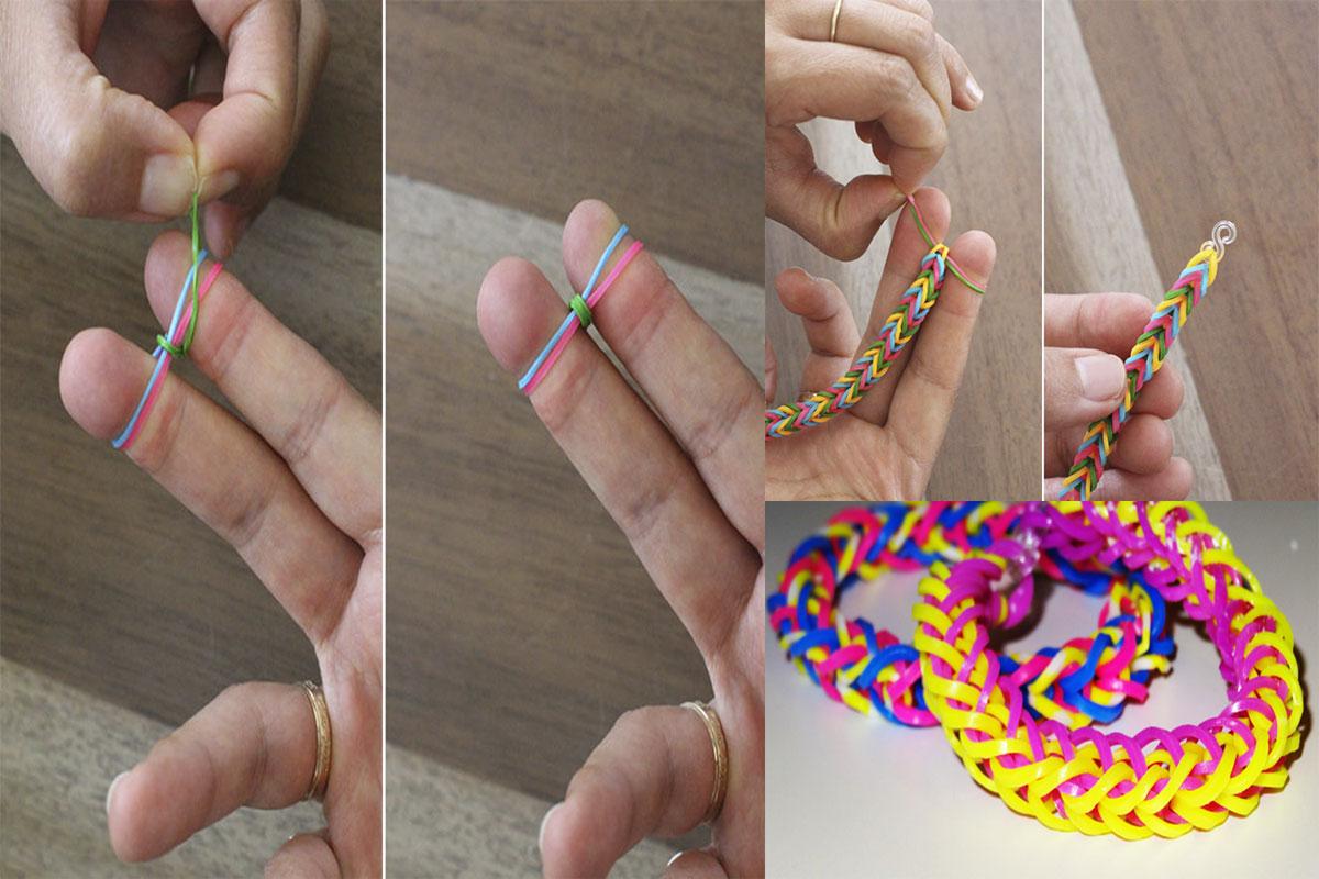 Плетение чокера из резинки