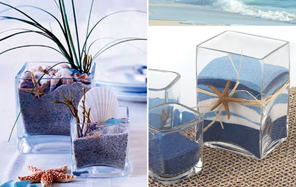 Морские поделки с песком