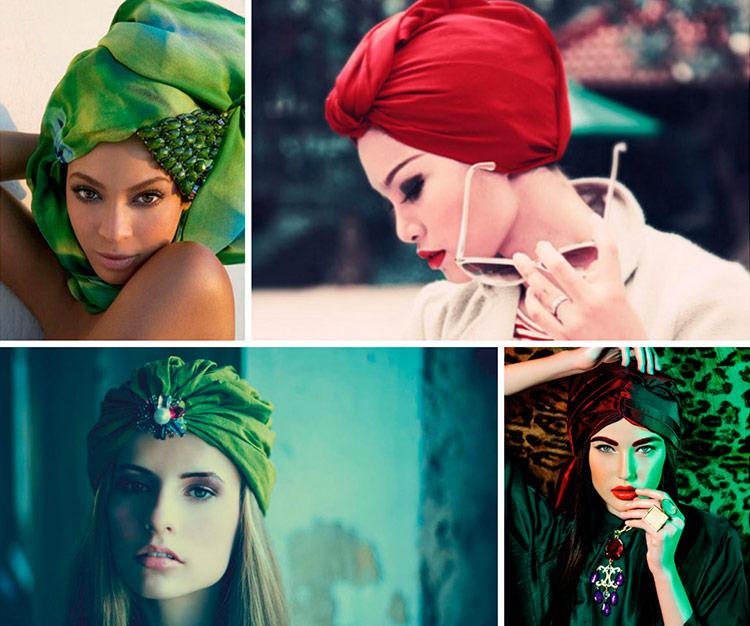 Модный платок на голову своими руками 5