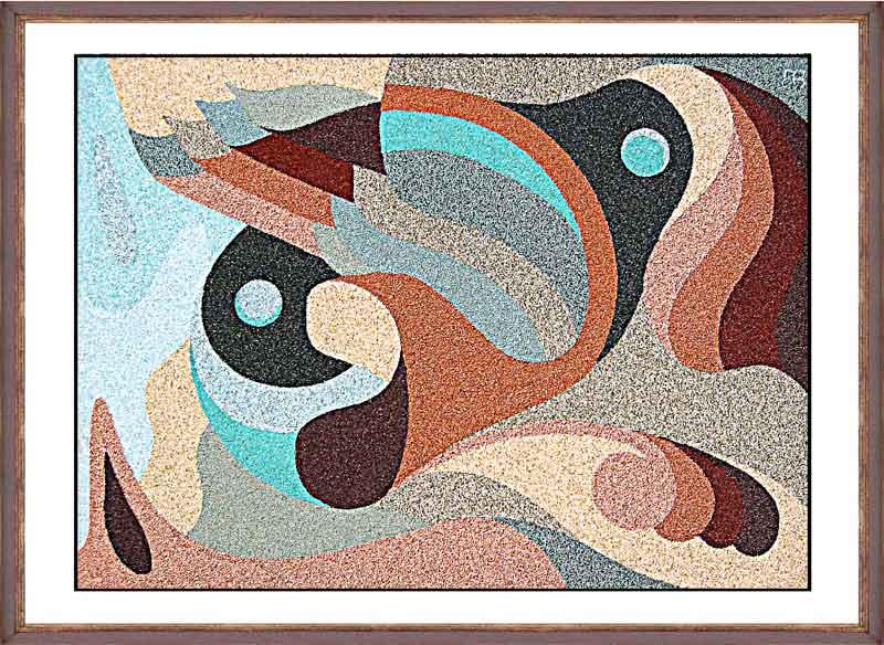 Картина из цветного песка своими руками 896