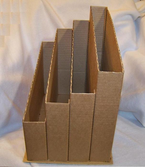Как сделать лоток для бумаг из картона