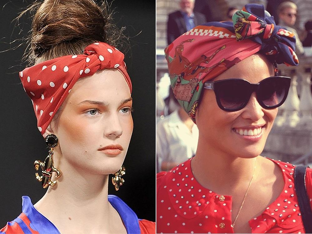 Модный платок на голову своими руками 1
