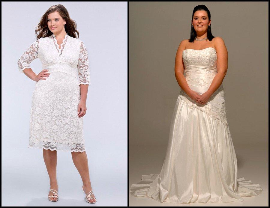 Фасоны свадебных платьев для полных девушек и