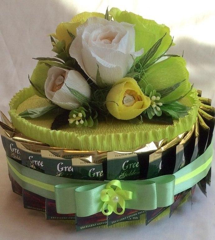 Чайно-конфетные букеты мастер класс с пошаговым фото