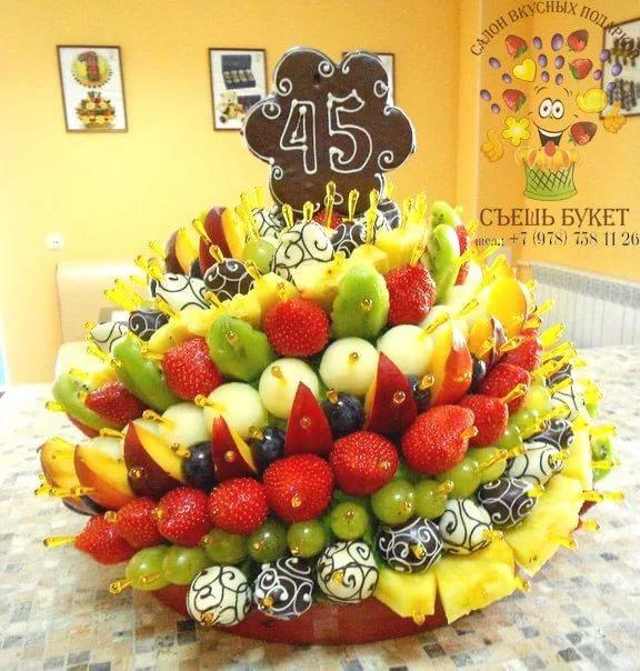 Торт из фруктов своими руками пошагово 710