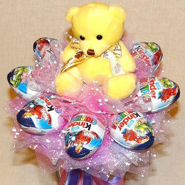 Букеты из конфет своими рукам как оформить фото 597