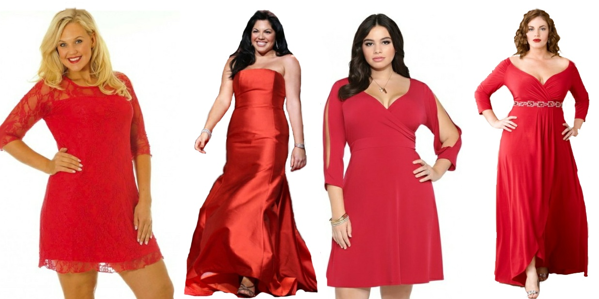 Новый год платья для полных женщин