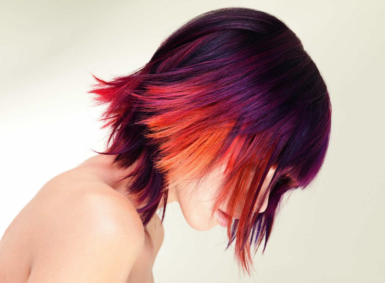 Окраска волос в красные оттенки