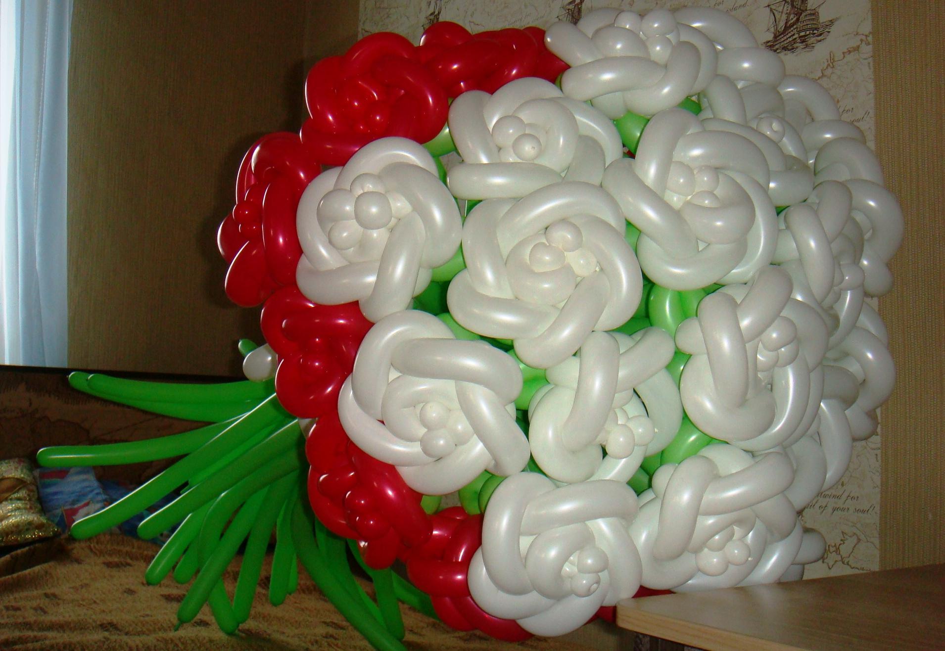 Фото букеты шары как сделать