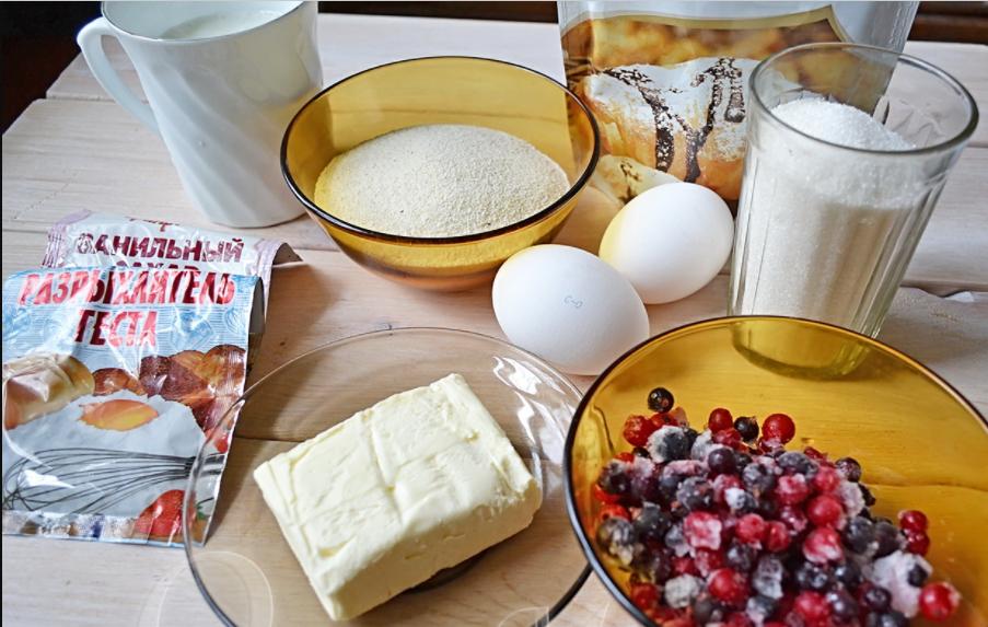 Манник рецепт на кефире с ягодами годжи