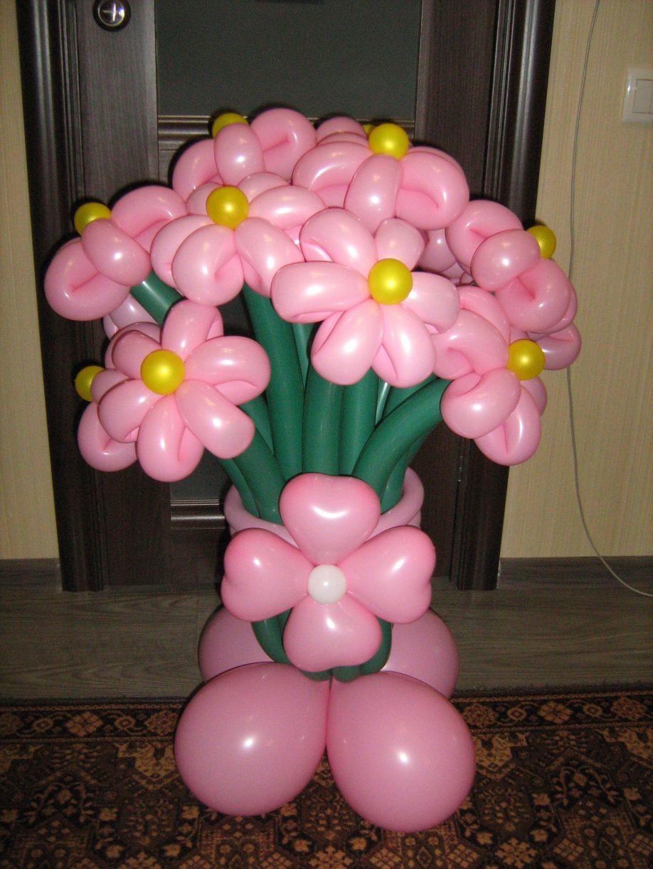 Как сделать из воздушных шаров цветы с фото