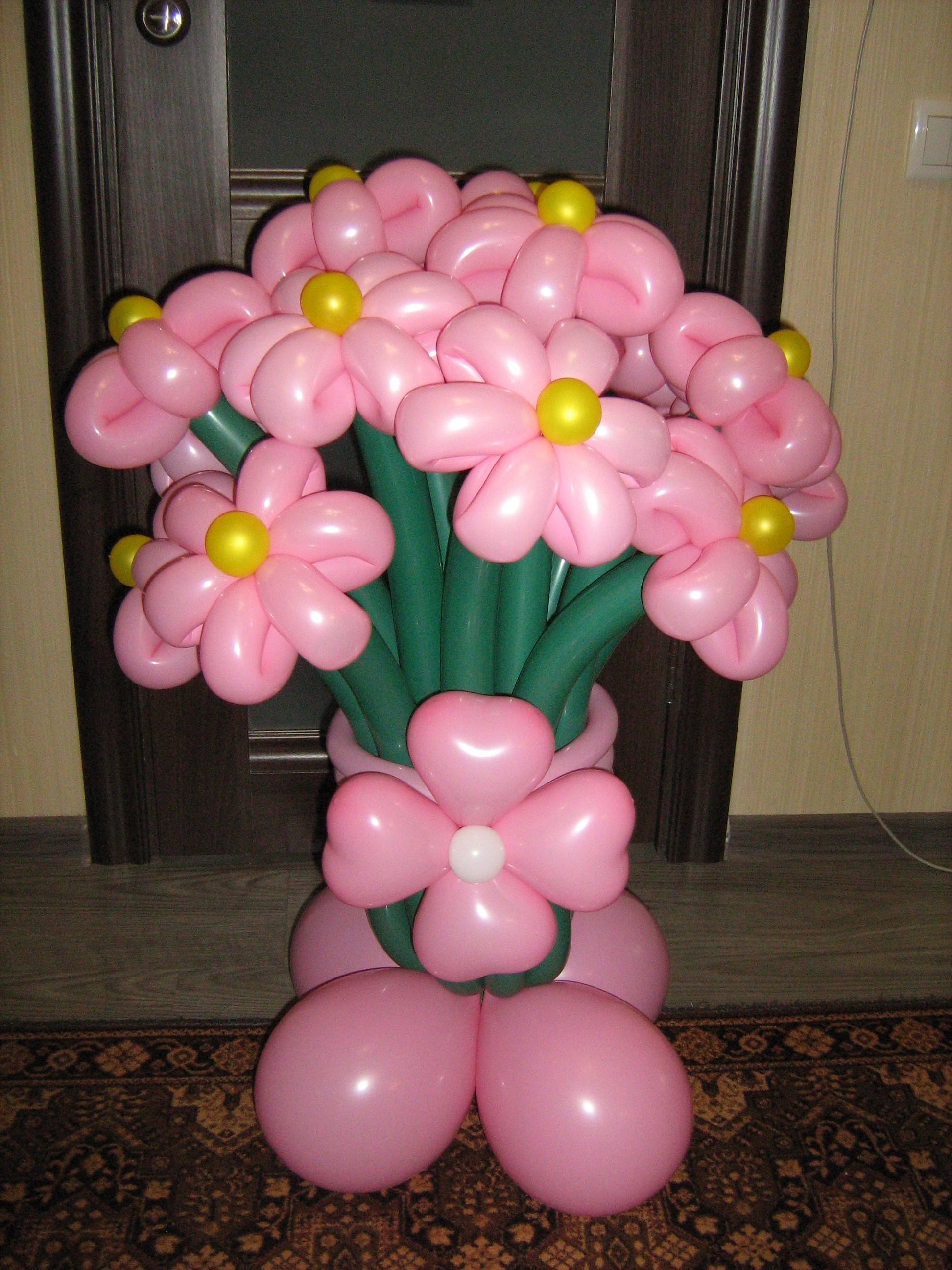 Поделки из воздушных шариков цветы 28
