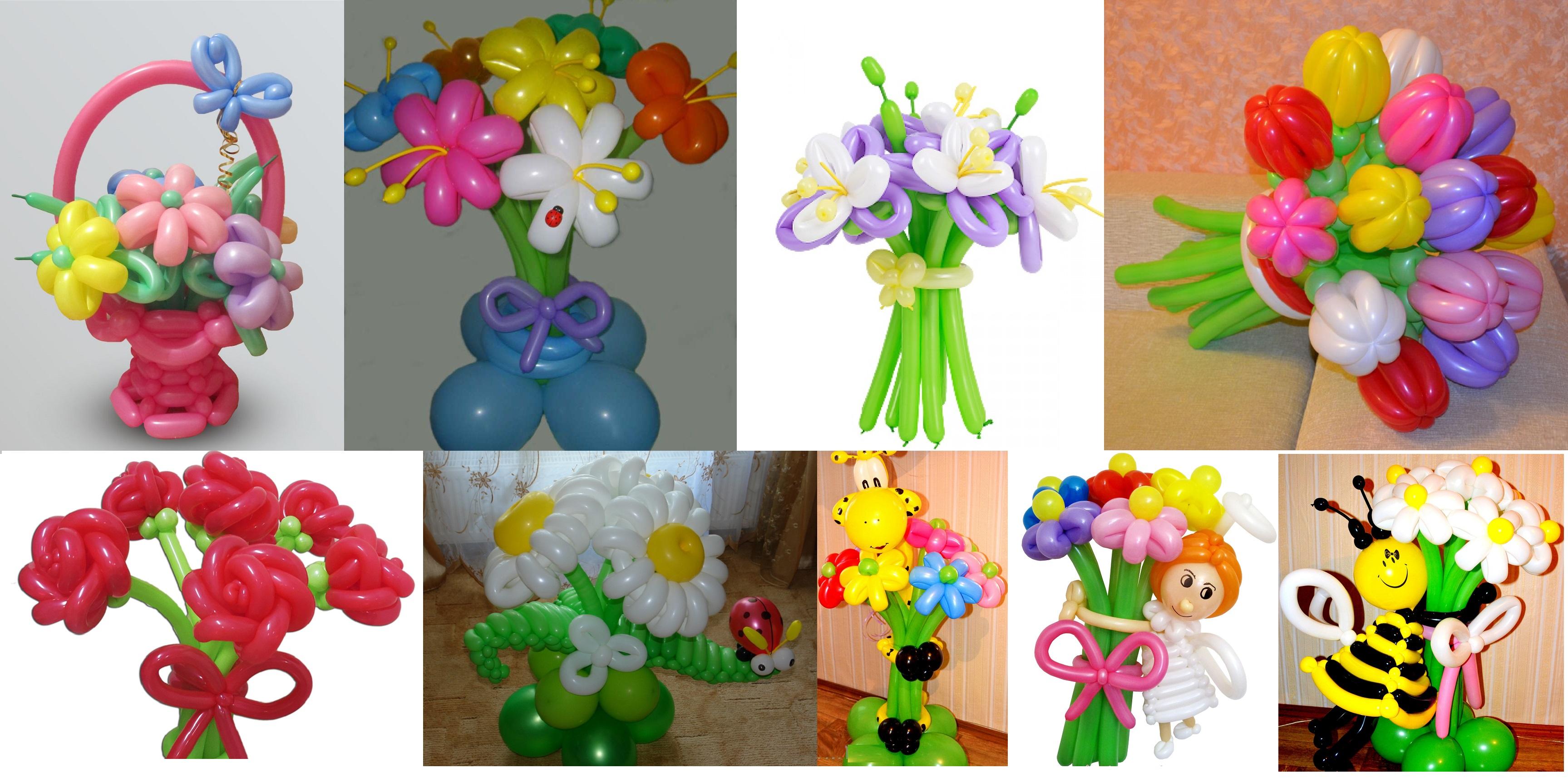 Цветы из шаров своими руками пошаговая инструкция 15