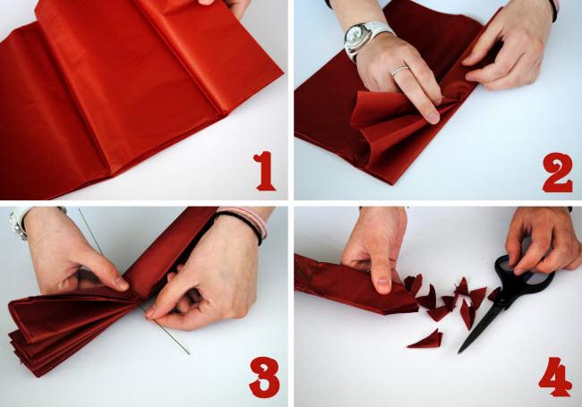 Помпон из бумаги своими руками поэтапно