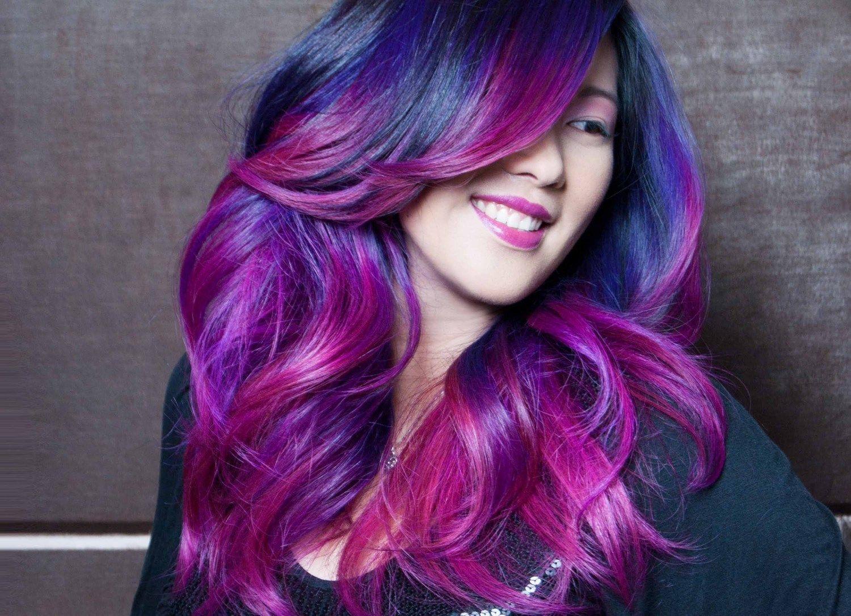 Как сделать фиолетовое фото