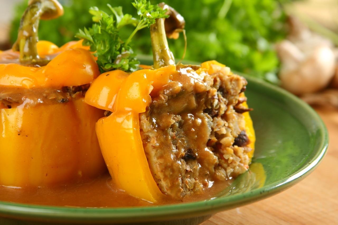 Перец фаршированный с гречкой рецепт с фото пошагово с