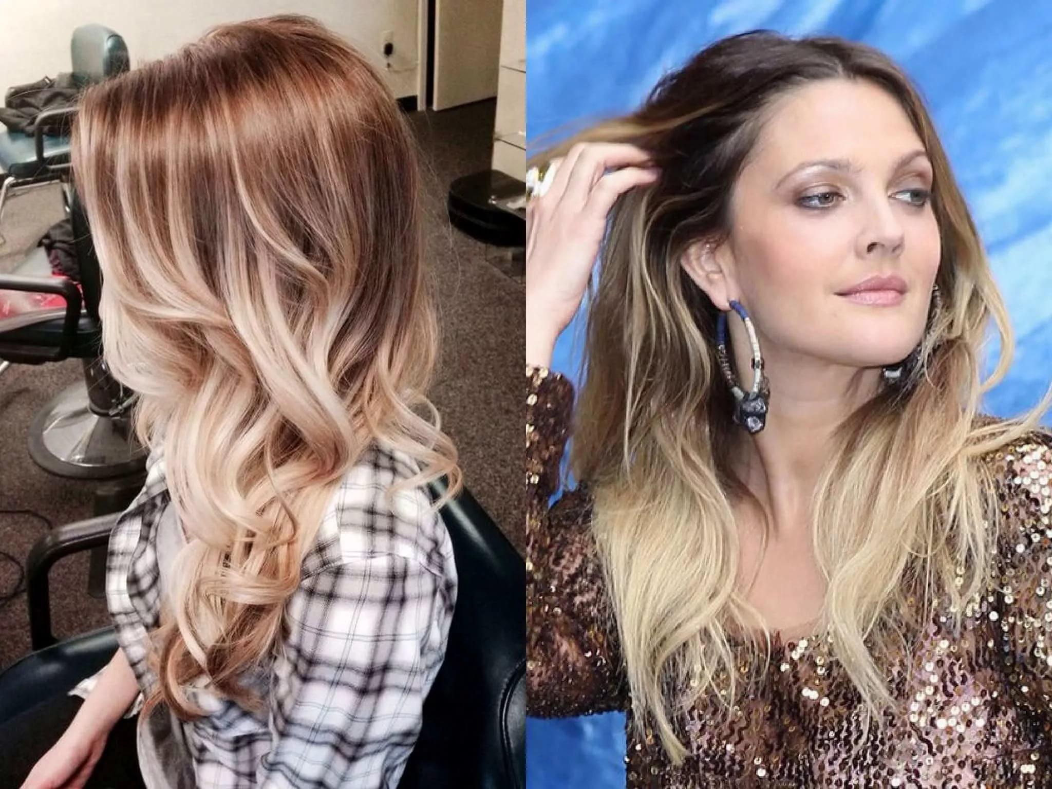 Как покрасить кончики волос в 83