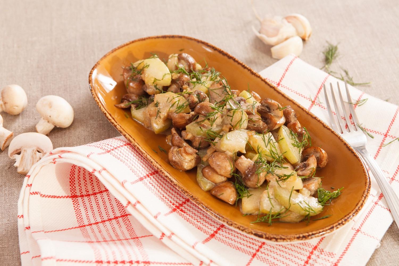 как приготовить картошку с грибами вкусно