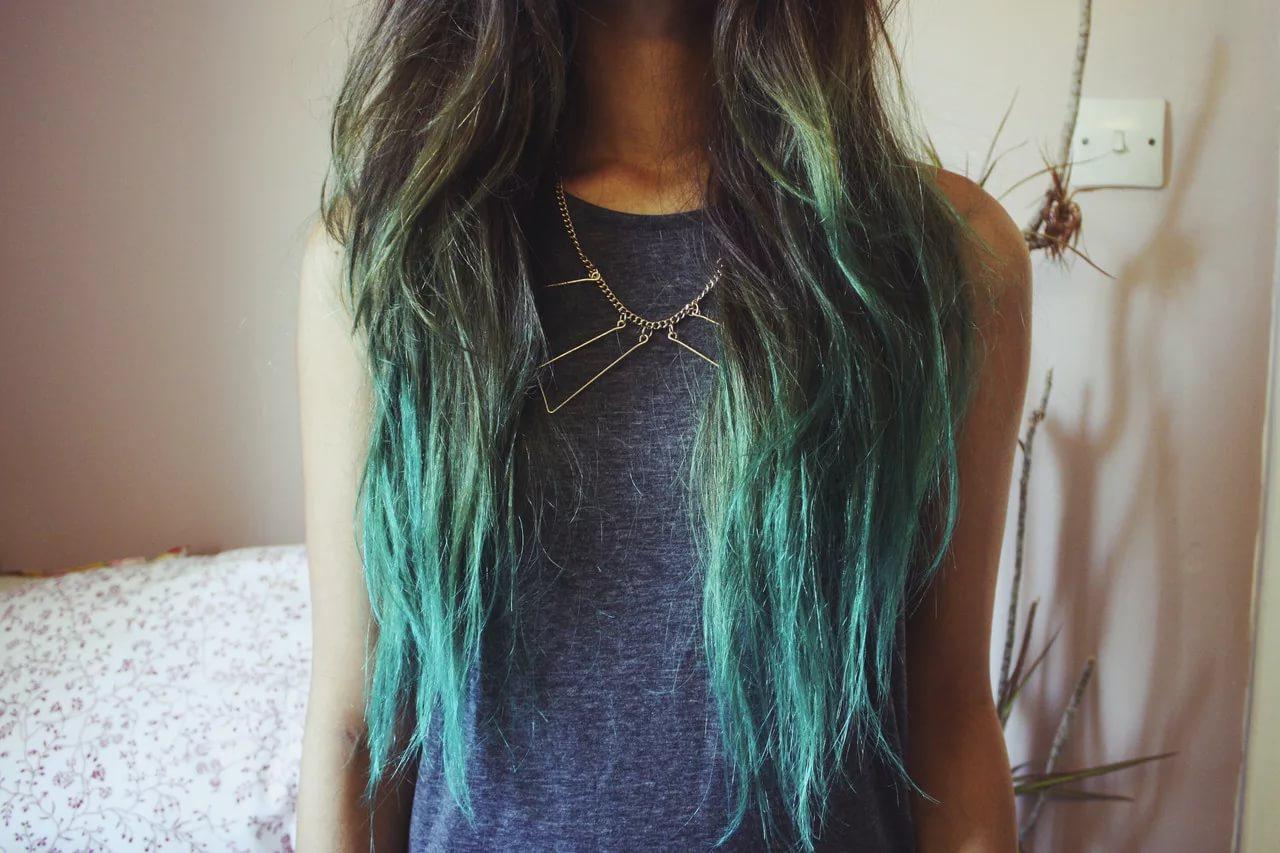 Как красиво покрасить кончики волос в домашних условиях