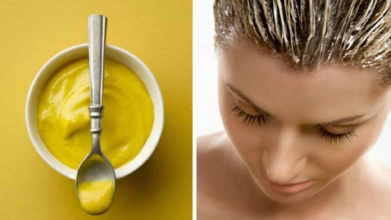 Маска для волос из горчичного порошка и репейного масла