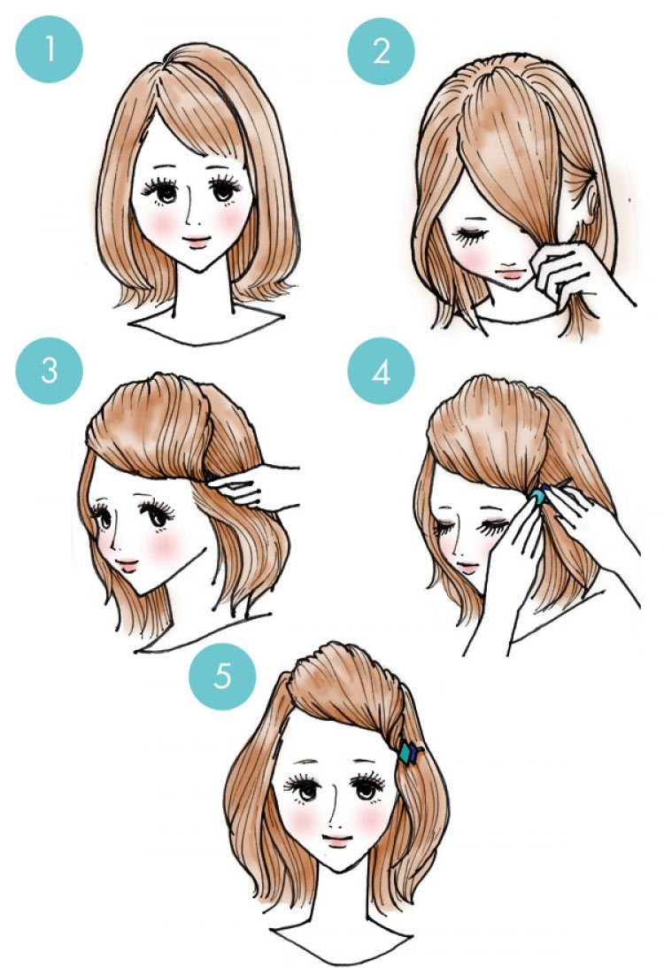 Причёски без чёлки картинки