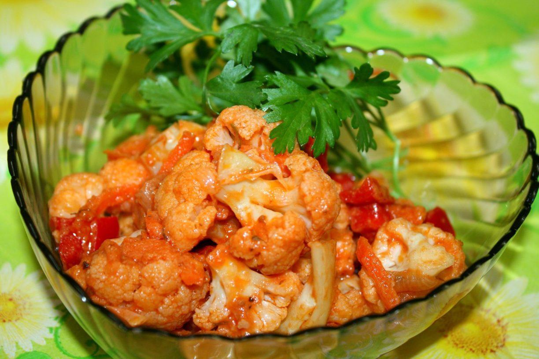Тушеные овощи с цветной капустой в мультиварке рецепты с фото