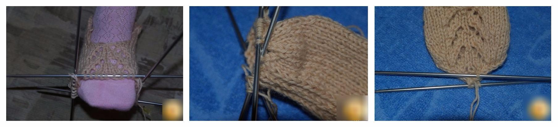 Вязание спицами следки на 2 спицах для начинающих 1
