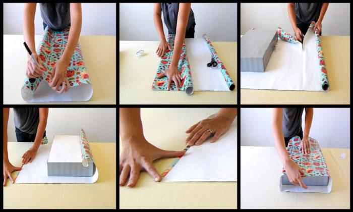 Как запаковать подарок в подарочную бумагу без скотча 32